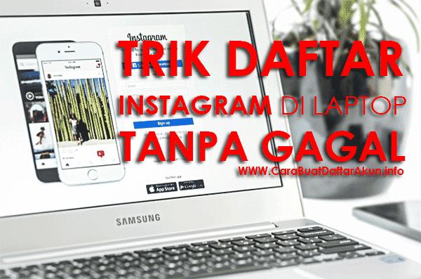 trik cara membuat instagram di komputer laptop