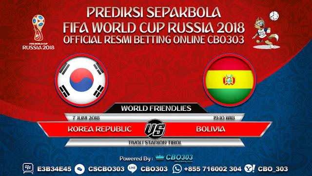 Prediksi Bola Korea Republic VS Bolivia 07 Juni 2018