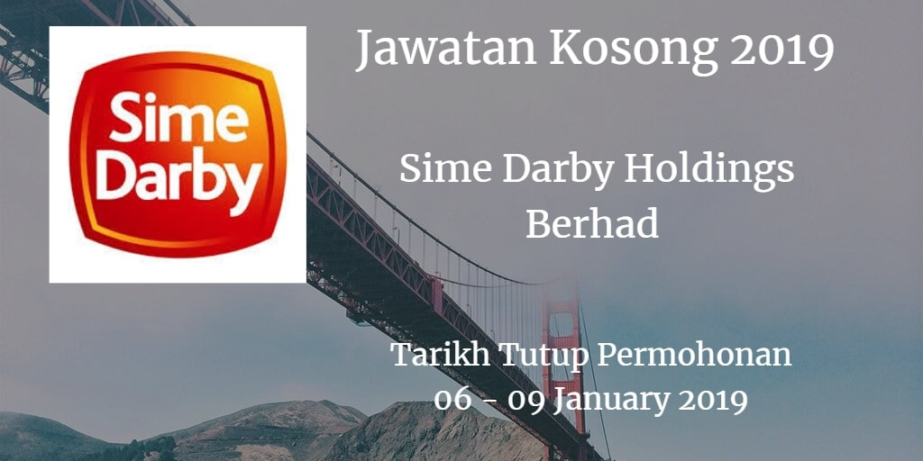 Jawatan Kosong Sime Darby Holdings Berhad 06 - 09 January 2019