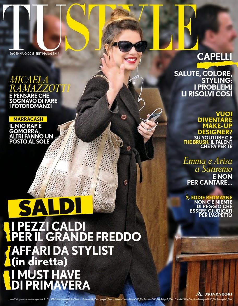 Tustyle Magazine November 2015 Issue: Arts Cross Stitch: Actress: Micaela Ramazzotti For Tu