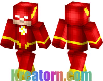 Minecraft The Flash Skin