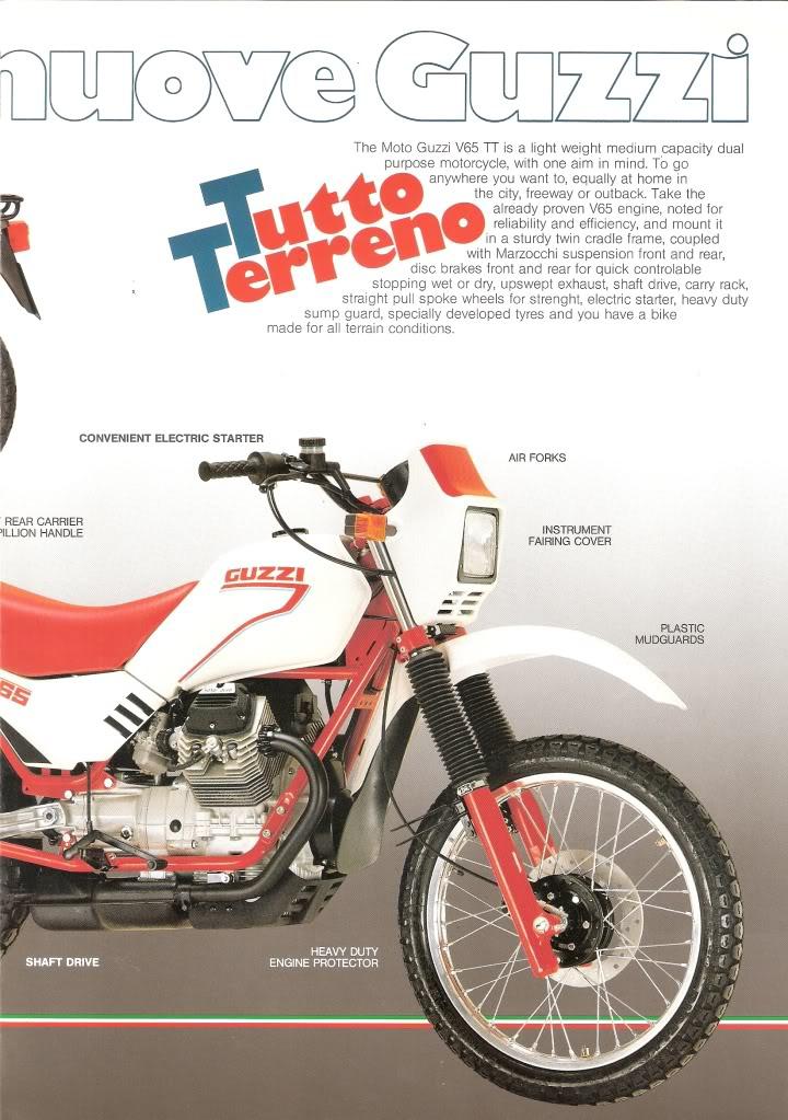 Moto Guzzi Tutto Terreno Motorcycle Brochure
