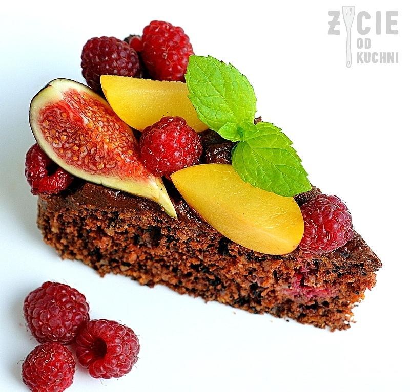 dynia, tort dyniowy, sliwki, figi, jesienne ciasto,