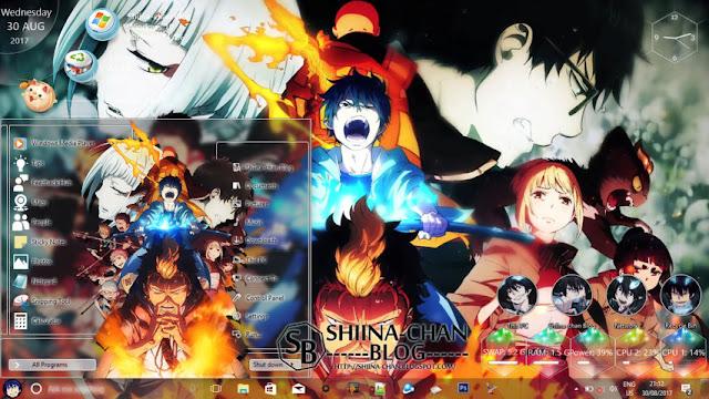 Windows 10 Ver. 1703 Theme Ao no Exorcist by Enji Riz