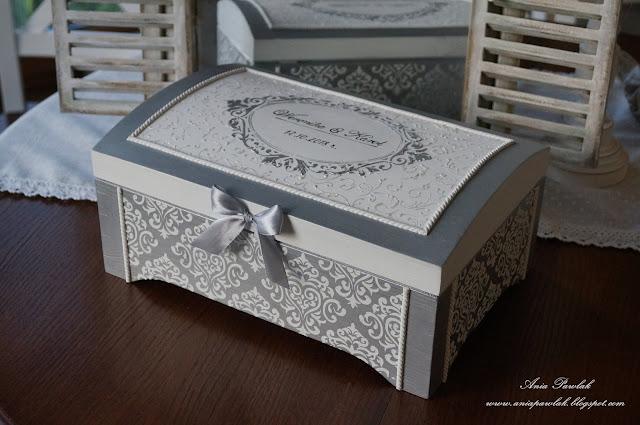 Ślubny kufer glamour