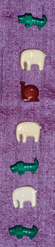 1970s children's animal buttons - plastic