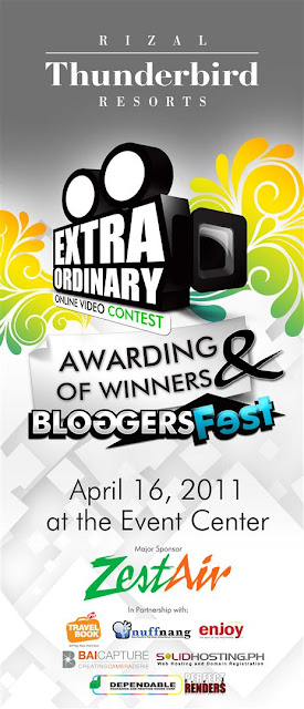 Press Release: Extraordinary Online Video Contest Awarding & Bloggers Fest At Thunderbird Resorts Rizal