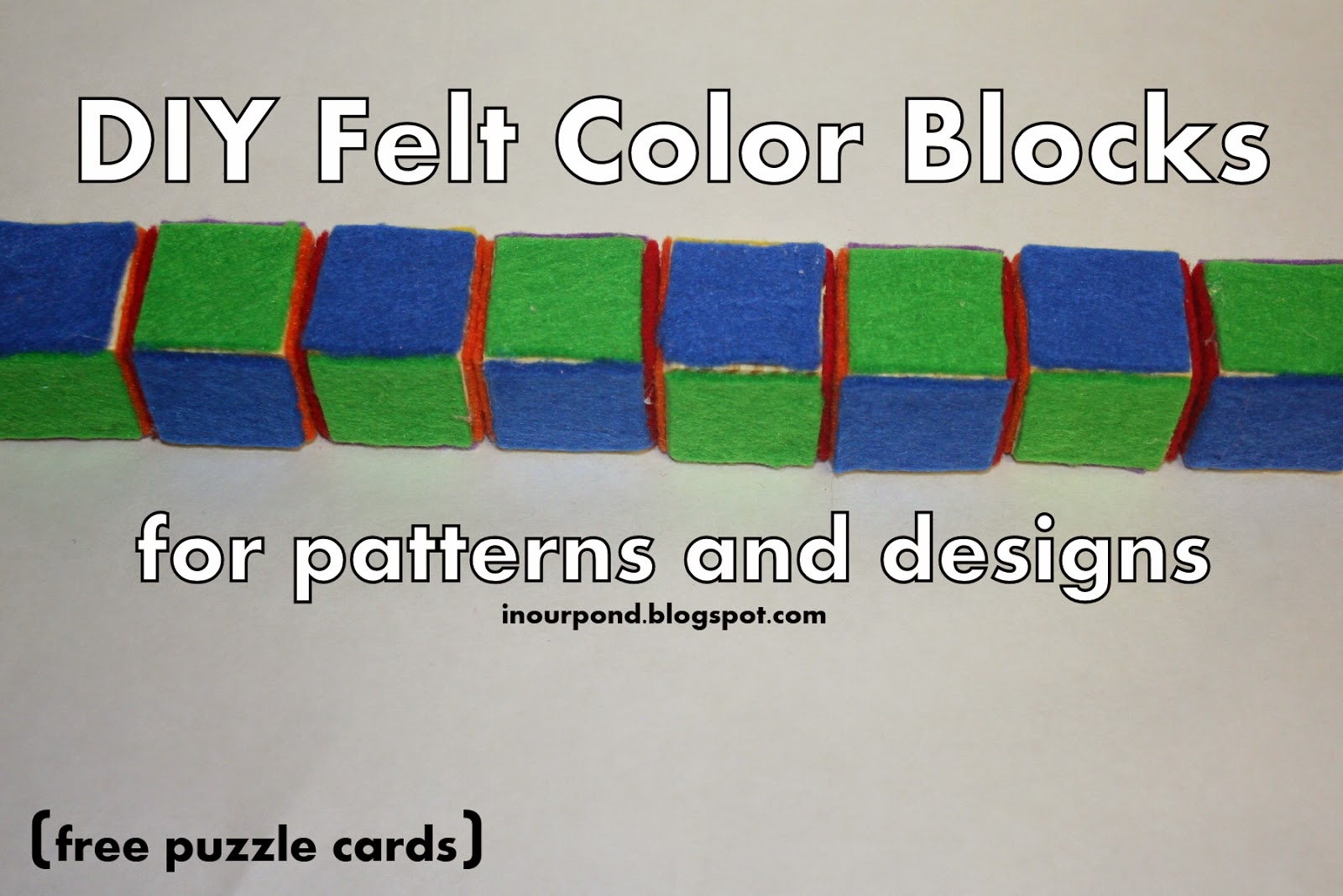 DIY Felt Pattern Blocks from In Our Pond