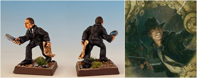 Joe Diamond private eye painted miniature