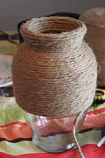 jute covered vase, pinterest inspired, cottage, cottage style, farmhouse, farmhouse style