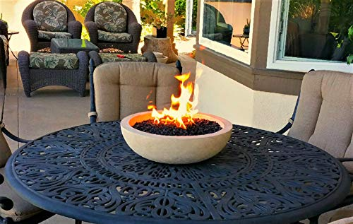 The best A Fire Pit for Your Patio Table  Landscape Quality Tabletop Fire  Bowl Made of Concrete with