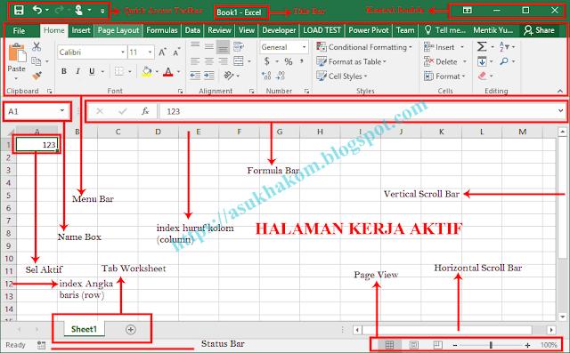Fungsi dan Cara Membuat Workbook pada Microsoft Excel