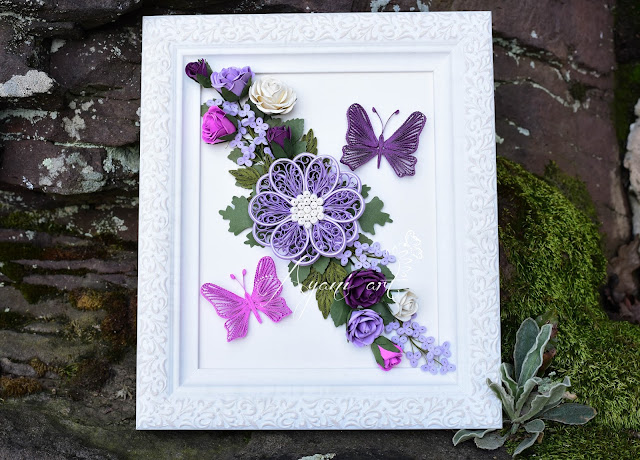 Purple Paper Roses and Quilling - Ayani art blog by Otilia