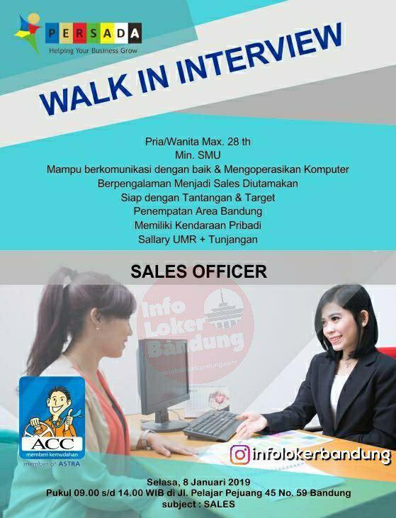 Walk In Interview Persada Jabar 8 Januari 2019