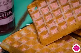 Gaufres à la poudre de biscuits roses de Reims