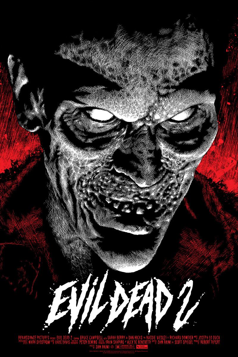 INSIDE THE ROCK POSTER FRAME BLOG: Elvisdead Evil Dead 2 ...  INSIDE THE ROCK...