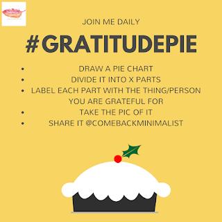 Gratitude Pie - How to make gratitude journal