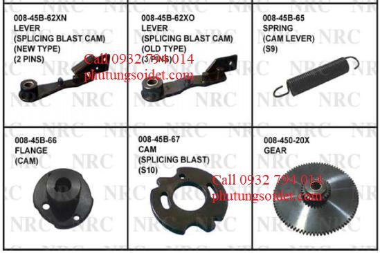 Spring (Cam lever)(S9) 008-45B-65 Flange (Cam) 008-45B-66 Cam (Splicing Blast) (S10) 008-45B-67 Gear 008-45B-20X Lever (Spring Hook) 008-470-3X Rod 008-475-9