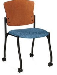 Twilight Training Room Chair with A Wood Back