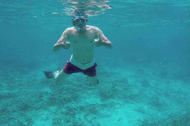 Alberto haciendo snorkel en Gili Trawangan