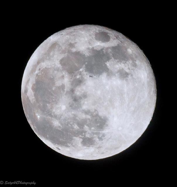 Lua Cheia e Estação Espacial Internacional