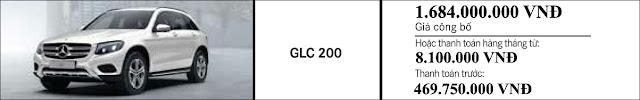Giá xe Mercedes GLC 200 2018 tại Mercedes Trường Chinh