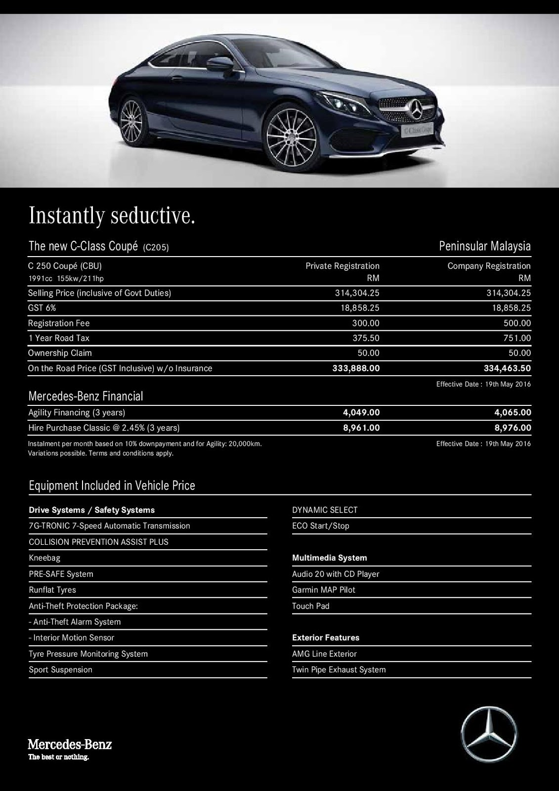 Motoring malaysia all new mercedes benz c class coupe for Mercedes benz c300 cost