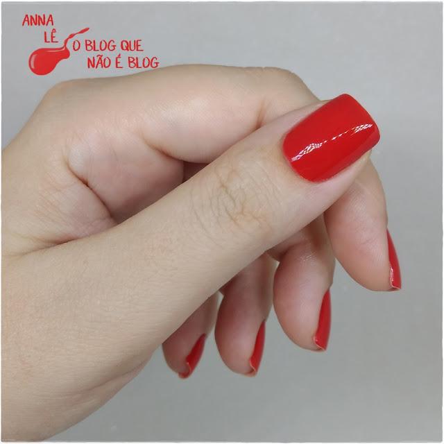 Esmalte Nailpolish Vermelho Red Desejo Risqué
