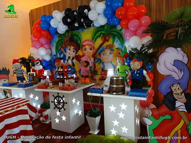 Decoração infantil Jake e os Piratas - festa temática