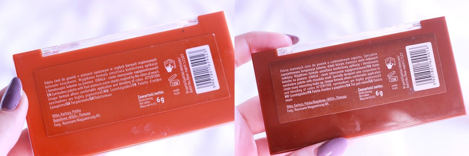swatche lovely tanie paletki choco bons peach desire opinia recenzja zdjęcia