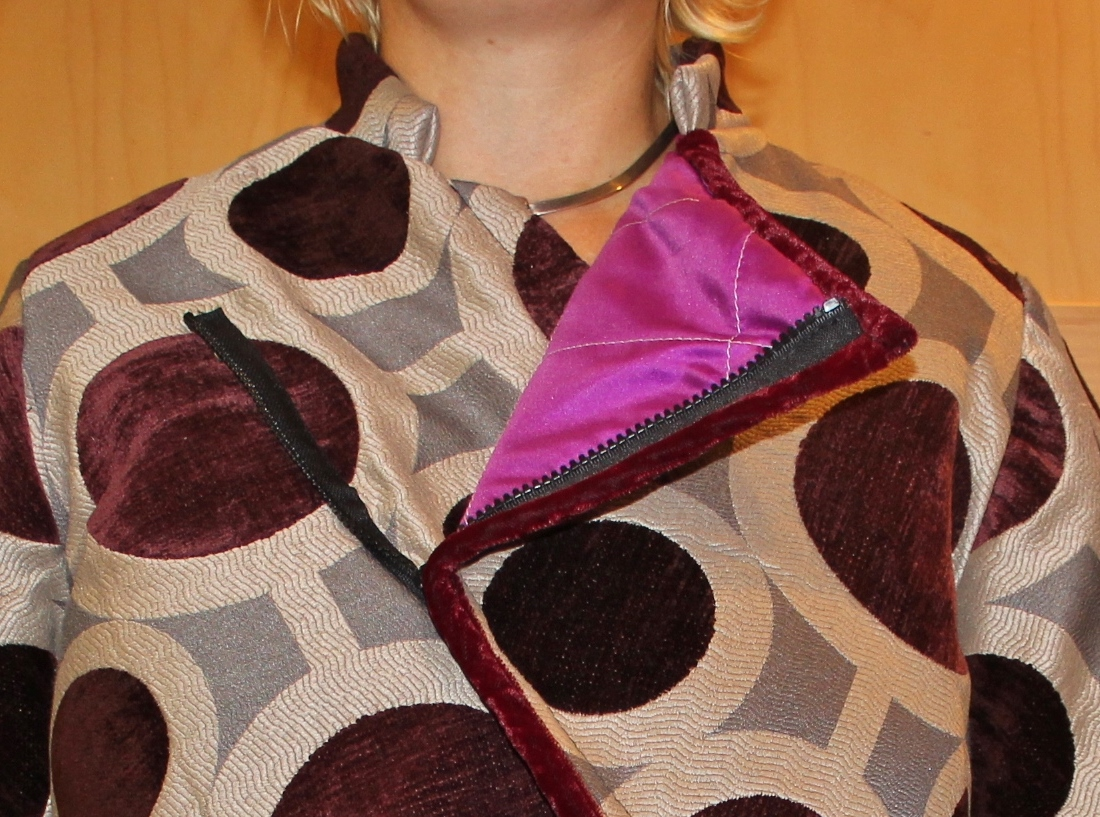 SoleCrafts: Pattern Review Sewing Bee Round 2 - A Bias Cut Coat