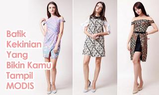 Desain Dress Batik Modern Terbaru