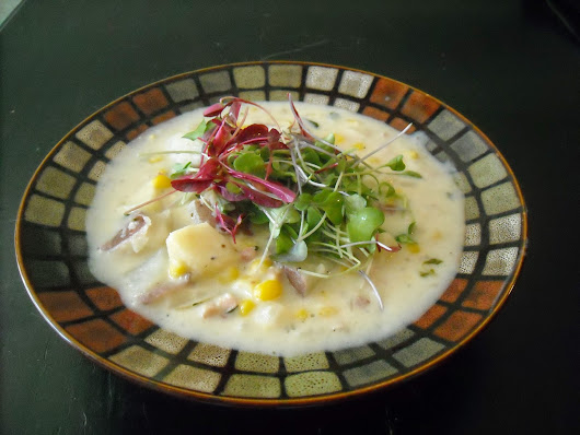 Warm Your Innards-- Potato-corn chowder