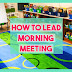 Morning Meeting activities, greetings, and share ideas