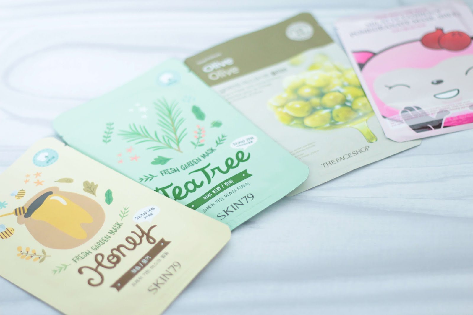 korean skincare sheetmask haul