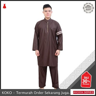 KKO34 OKX701 Setelan Gamis Muslim Pria Pakaian Ala Nabawi Terbaru BMGShop