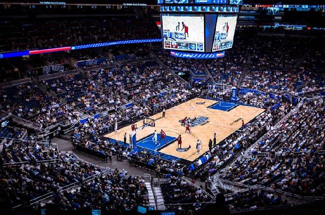 Jogos de basquete da NBA em Orlando