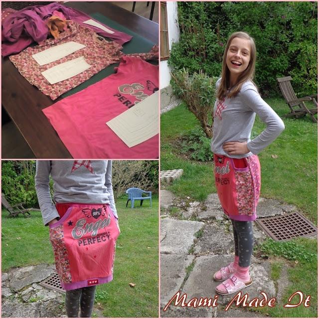 DIY - Nähen - Rock aus alten Lieblingsshirts - Mami Made It - DIY - Sew - Skirt from Old Favorite Shirts by Mami Made It