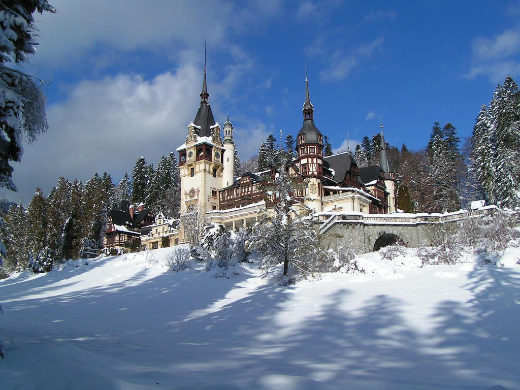 Peles Castle in Romania plays a leading role in 'Princess for Christmas.' Photo: Adam Shafer.