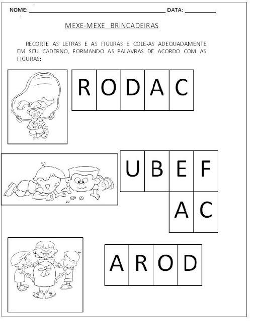 Atividades para Alfabetização - Mexe-Mexe 5