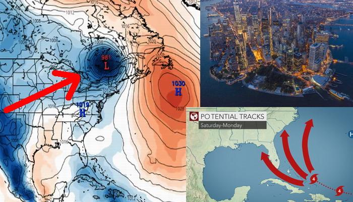 Simulaciones de computadoras muestran al huracán IRMA destruyendo la ciudad de Nueva York el 10 de septiembre.