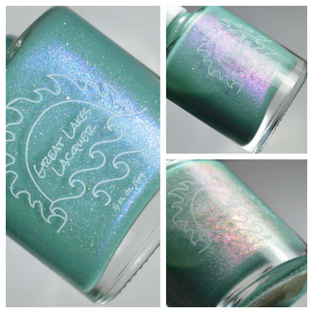 teal thermal nail polish bottle