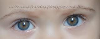 Cor dos olhinhos do bebê