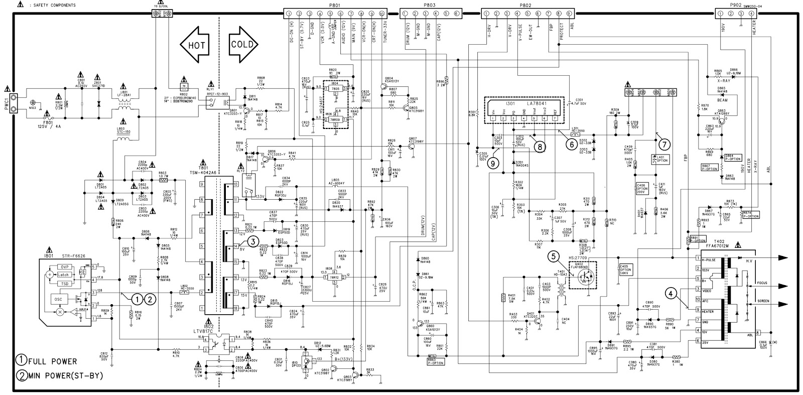 DaewooSony VX 14A1 – VX14AW1 – VX21AW1 – Circuit Diagram