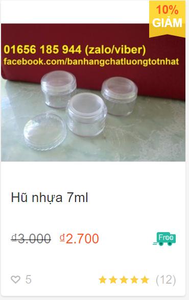 Hũ nhựa 7ml