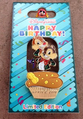 Hong Kong Disneyland Chip and Dale 73rd Anniversary Birthday Limited Edition Pin