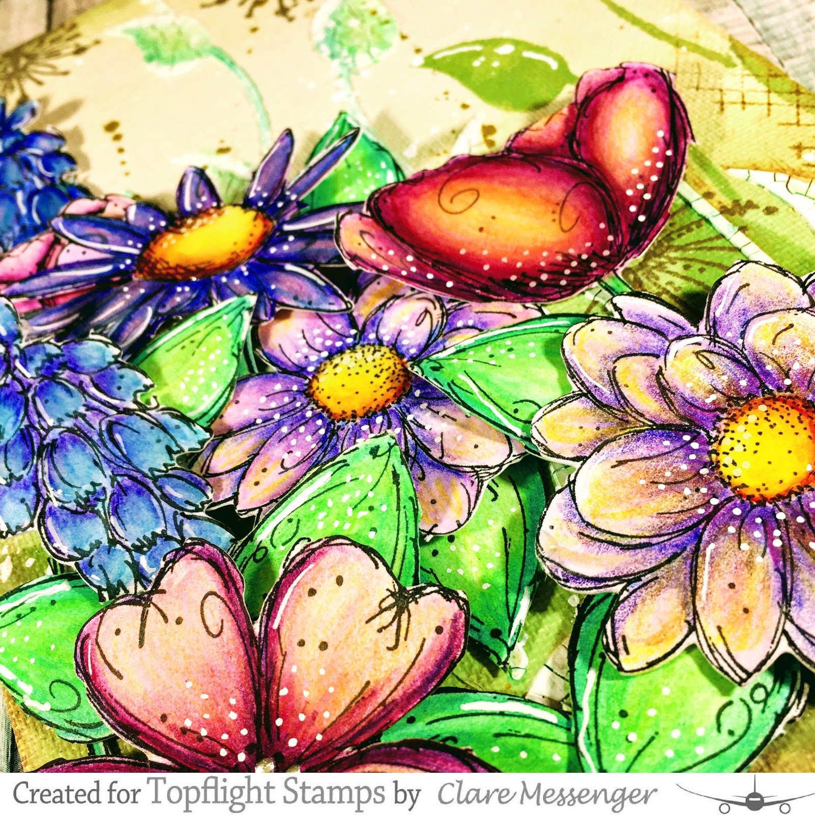 Welcome to the Topflight St&s blog. Itu0027s Clare today this week I have cultivated an A5 canvas using Darkroom Doors u0027Fine Flowersu0027  sc 1 st  Topflight St&s - Blogger & Topflight Stamps: Fine Flowers-Darkroom Door u0026 Paperartsy