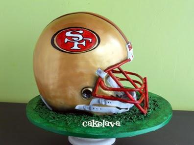 Cakelava San Francisco 49 Ers Football Helmet Cake