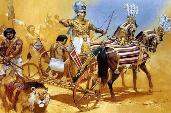 ramses in the eve of battle