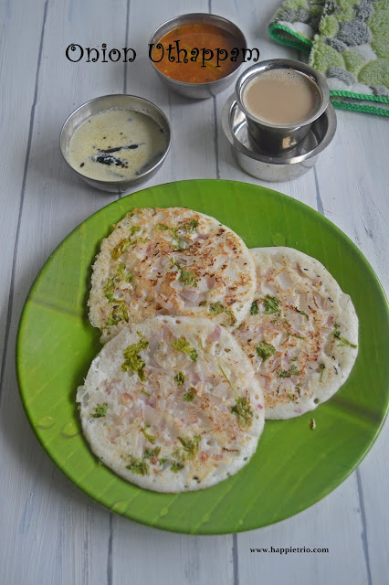 Onion Uttapam Recipe | How to make Onion Uttapam | Vengaya Uttapam